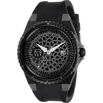 Technomarine Men's Watch - Easycell Technocell Black Case Silicone Strap | TM-318062