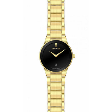 Invicta Women's Quartz Watch - Specialty Black Dial Yellow Gold Bracelet | 30539