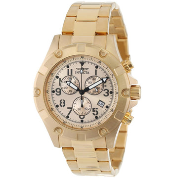 Invicta 13619 Men's Specialty Gold Tone Dial Gold Plated Steel Bracelet Chronograph Watch