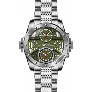 Invicta Men's Quartz Watch - Coalition Forces Green Dial Silver Tone Bracelet | 31147