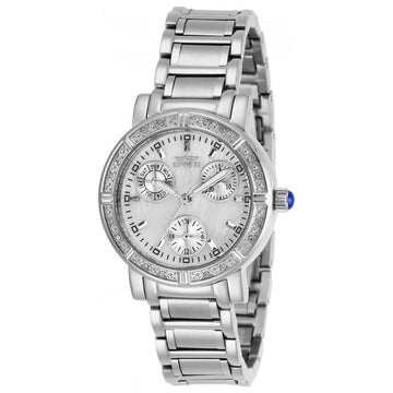 Invicta Damen Kristalluhr - Angel White Oyster Dial SS Armband | 29113