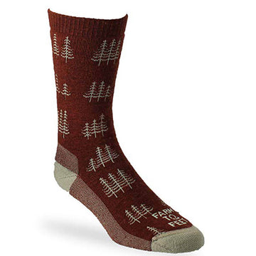 Farm to Feet Men's Socks - Cokeville Midweight Crew, Red Clay | 8578-606-RCLAY