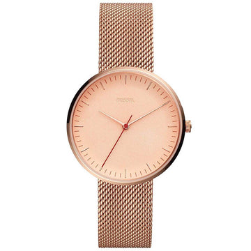 Fossil Women's Quartz Watch - The Essentialist Rose Gold Steel Mesh Bracelet | ES4425