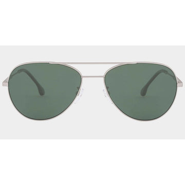 Paul Smith Unisex Sunglasses - Angus Matte Silver Frame | PSSN006V2-03-58-17-145