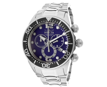 Invicta Men's Lupah Chronograph Stainless Steel Watch - Quartz Blue Dial | 14196