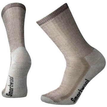 Smartwool Men's Crew Socks - Medium Hiking, Dark Brown, Large | SW0SW130-242-L