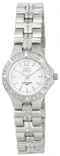 Invicta 0126 Women's Wildflower Quartz White Dial Stainless Steel Watch