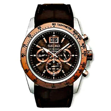Seiko SPC248P1 Men's Neo Sports Brown Dial Chronograph Watch