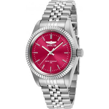 Invicta Women's Quartz Watch - Specialty Red Dial Stainless Steel Bracelet | 29399