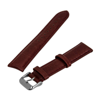 Debeer Red 20  mm Wide Genuine Leather Strap