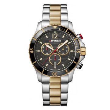 Wenger Men's Chronograph Watch - Seaforce Two Tone Steel Bracelet | 01.0643.113