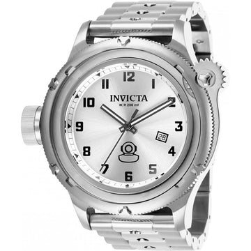 Invicta Herren Lefty Uhr - Russian Diver Silver Tone Dial Armband | 26465