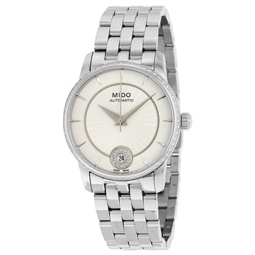 Mido Women's Diamond Watch - Baroncelli II Stainless Steel Bracelet | M0072076103600