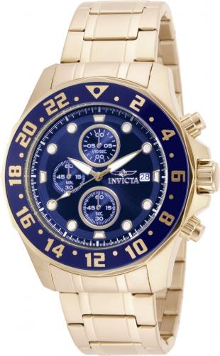 Invicta 15942 Men's Specialty Chrono Yellow Gold Bracelet Watch