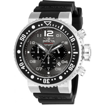 Invicta Men's Chronograph Watch - Pro Diver Black Dial Rubber Strap | 26732
