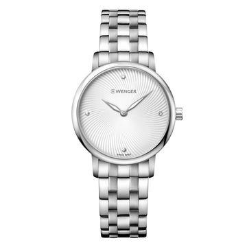 Wenger 01.1721.109 Women's Urban Donnissima Silver Dial Stainless Steel Crystal Watch