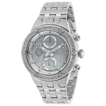 Invicta Women's Chrono Watch - Angel White Oyster Dial Steel Bracelet | 29526