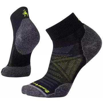 Smartwool Men's Mini Socks - PhD Outdoor Light, Black, Large | SW001066-001-L