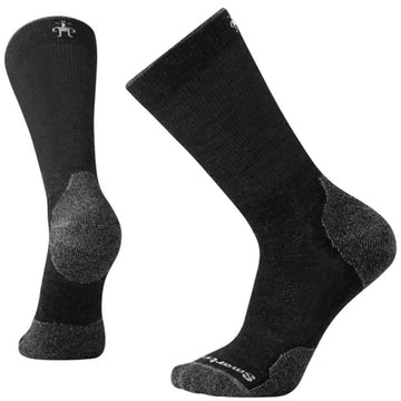 Smartwool Men's Crew Socks - PhD Outdoor Hiking, Charcoal, Large | SW001069-003-L