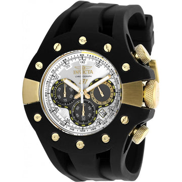 Invicta Men's Chrono Watch - S1 Rally Silver Tone and Black Dial Rubber Strap | 28569