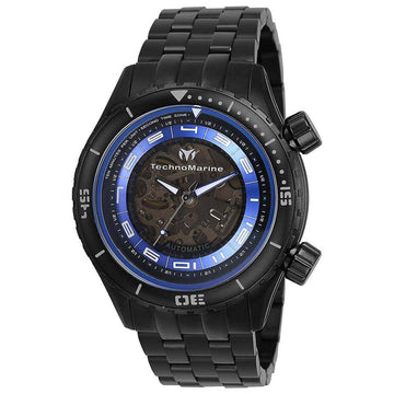 Technomarine Men's Automatic Watch - Dual Zone Black Bracelet | TM-218015