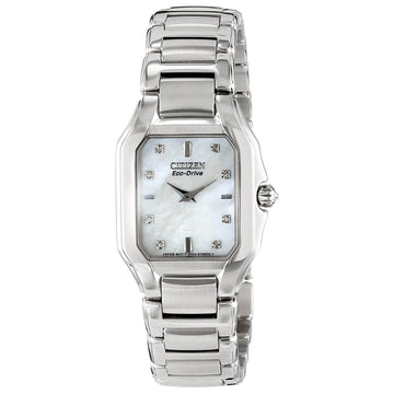 Citizen EX1190-58D Women's Steel Bracelet Signature Fiore Diamond Mother of Pearl Dial Watch