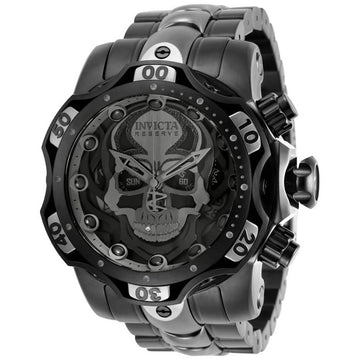 Invicta Men's Chronograph Watch - Reserve Venom Black and Grey Bracelet | 30352