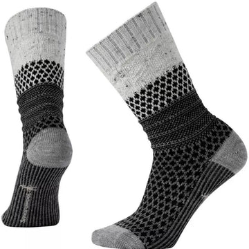 Smartwool Women's Socks - Popcorn Cable, Winter White Donegal, Medium | SW0SW793-983-M