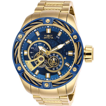 Invicta Men's Automatic Watch - Bolt Blue Dial Yellow Gold Bracelet | 26776