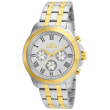 Invicta Men's Chronograph Watch - Specialty Silver Tone Dial Bracelet | 21659