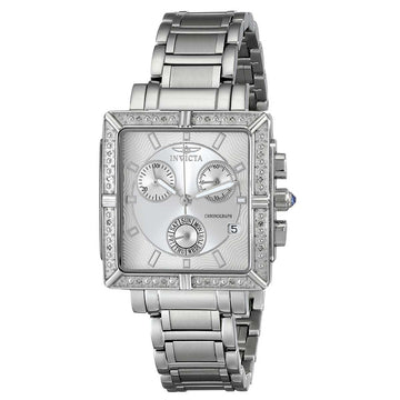 Invicta 5377 Women's Stainless Steel Bracelet Swiss Angel Chrono Diamond Silver Dial Day-Date Watch