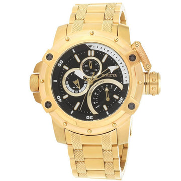 Invicta Men's Chronograph Watch - Coalition Forces Yellow Gold Bracelet | 30380