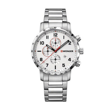 Wenger Men's Chronograph Watch - Attitude Stainless Steel Bracelet | 01.1543.110