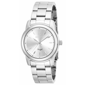 Invicta Women's Stainless Steel Watch - Angel Swiss Quartz Silver Dial | 17419