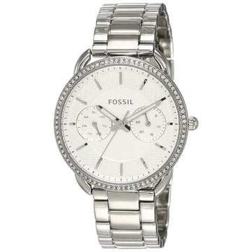 Fossil Women's Quartz Watch - Tailor Silver Tone Dial Steel Bracelet | ES4262
