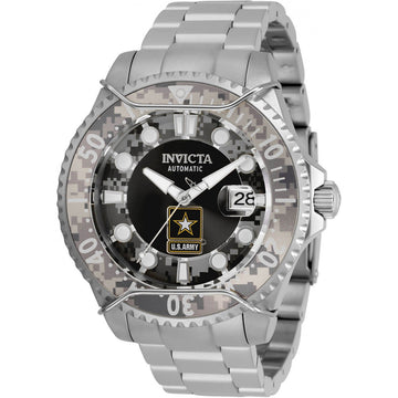 Invicta Men's Automatic Watch - U.S. Army Black and Camouflage Dial Bracelet | 31851