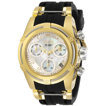 Invicta Women's Chrono Watch - Reserve Bolt Zeus Silver, Gold and Black Strap | 30527