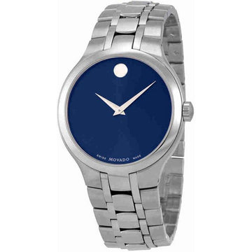 Movado Men's Quartz Watch - Collection Blue Dial Stainless Steel Bracelet | 0606369