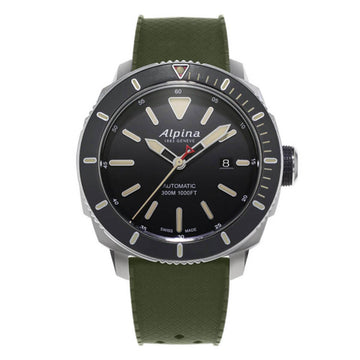 Alpina Men's Strap Watch - Seastrong Diver 300 Automatic Green Rubber | AL-525LGG4V6