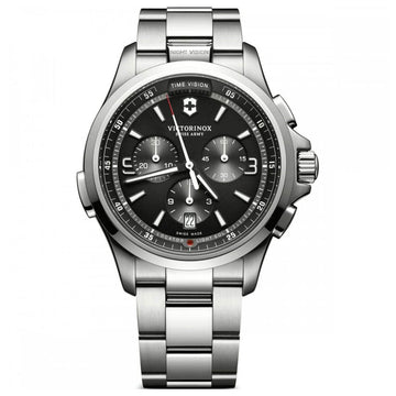 Victorinox Swiss Army Men's Watch - Night Vision Stainless Steel Bracelet | 241780