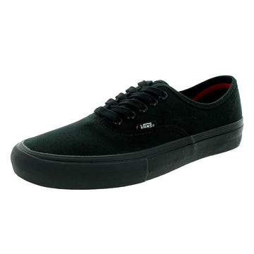 Vans Unisex Authentic Pro Black Canvas Skate Shoe |VQ0DBKA