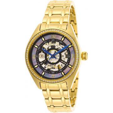 Invicta Women's Automatic Watch - Objet D Art Yellow Gold Bracelet | 26356