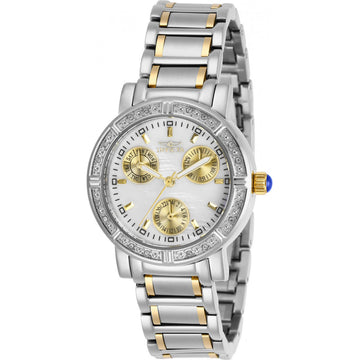 Invicta Women's Crystal Watch - Angel White Oyster Dial Two Tone Bracelet | 29117