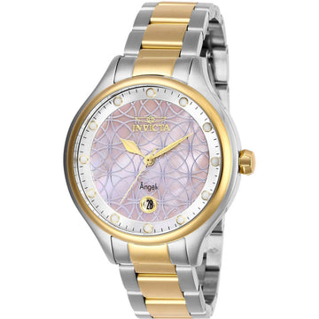 Invicta Women's Quartz Watch - Angel Pink Oyster and Silver Tone Dial Bracelet | 27766