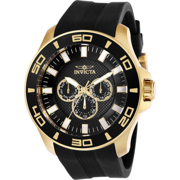 Invicta Men's Chronograph Watch - Pro Diver Black Dial Rubber Strap | 28001