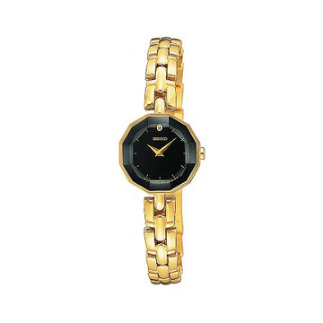 Seiko Women's Quartz Black Dial Bracelet Watch SUJF14