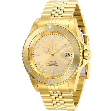 Invicta Men's Automatic Watch - Pro Diver Gold Tone Dial Bracelet | 30096