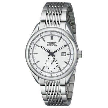 Invicta Men's Stainless Steel Watch - Specialty Swiss Quartz Silver Dial Date | 18095