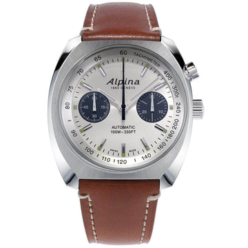 Alpina Men's Automatic Watch - Startimer Pilot Heritage Brown Strap |  AL-727SS4H6