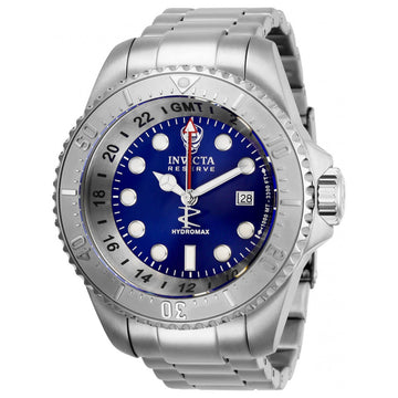 Invicta Men's GMT Watch - Reserve Hydromax Blue Dial Stainless Steel Bracelet | 29727